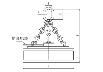 MW5型起重电磁铁